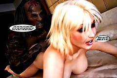 Hentai 3d interracial blonde