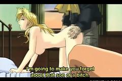 Hentai blonde ass anime