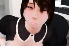 Hentai maid boss blowjob
