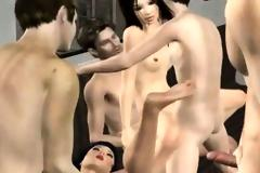 Hentai sex group animated