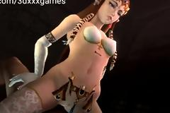 Hentai princess hard cock